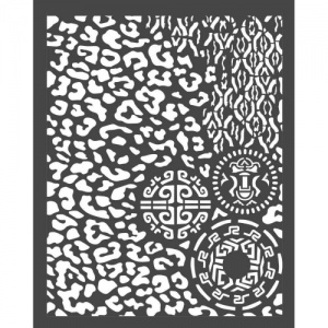 Stamperia Stencil - Amazonia - Animalier with Tribals