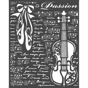Stamperia Stencil - Passion - Violin