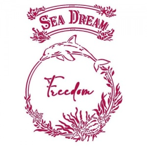 Stamperia Stencil - Romantic Sea Dream - Freedom