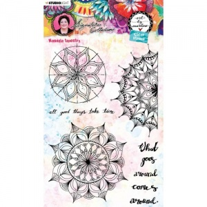 Studiolight Art by Marlene Clear Stamp Set #48 - Mandala Tapestry