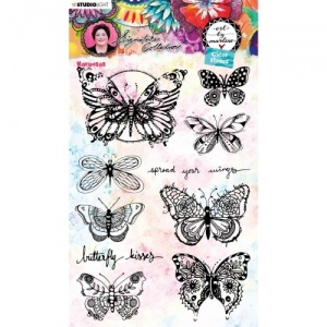 Studiolight Art by Marlene Clear Stamp Set #49 - Mariposas