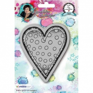 Studiolight Art by Marlene Cling Stamp Heart #22
