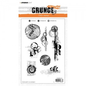 StudioLight Grunge Collection Clear Stamp Set - 341