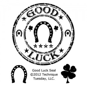 Technique Tuesday Clear Stamp Set - Good Luck Seal