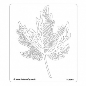 That's Crafty! 6.5ins x 7.5ins Stencil - Maple Leaf - TC7003