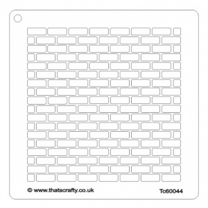 That's Crafty! 6ins x 6ins Stencil - Brick Wall - TC60044