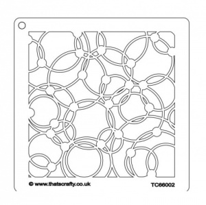 That's Crafty! 6ins x 6ins Stencil - Knotted Circles - TC66002