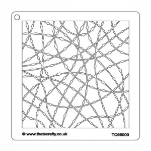 That's Crafty! 6ins x 6ins Stencil - Knotted Curves - TC66003