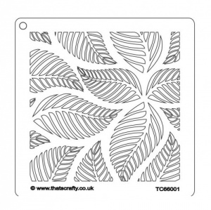 That's Crafty! 6ins x 6ins Stencil - Leaves - TC66001