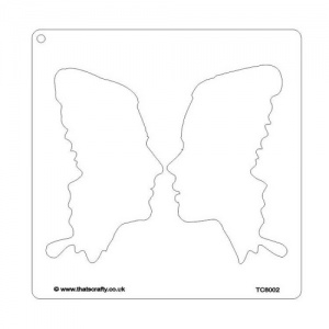That's Crafty! 8ins x 8ins Stencil - Butterfly Wings - TC8002