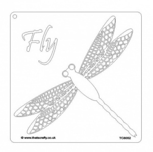 That's Crafty! 8ins x 8ins Mask/Stencil - Dragonfly - TC8052