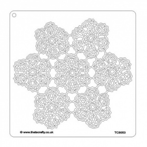 That's Crafty! 8ins x 8ins Mask/Stencil - Lace Doily - TC8053