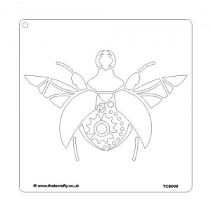 That's Crafty! 8ins x 8ins Stencil - Steampunk Bug - TC8006