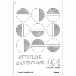 That's Crafty! A4 Stencil - Attitude is Everything - TC40008