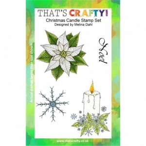 That's Crafty! Clear Stamp Set - Christmas Candle