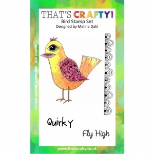 That's Crafty! A6 Clear Stamp Set - Bird