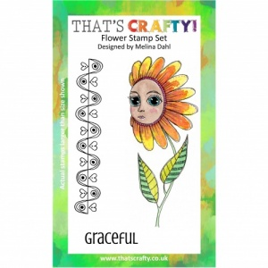 That's Crafty! A6 Clear Stamp Set - Flower