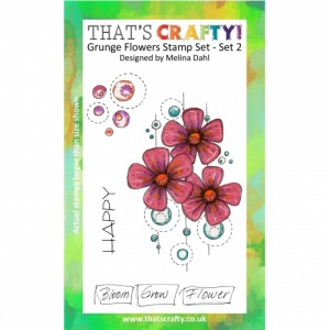 That's Crafty! A6 Clear Stamp Set - Grunge Flowers - Set 2