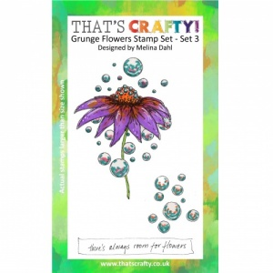 That's Crafty! A6 Clear Stamp Set - Grunge Flowers - Set 3