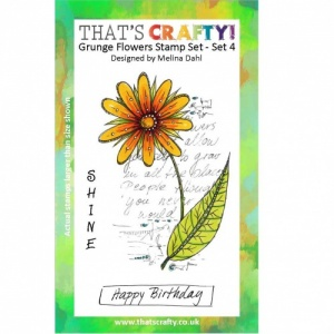 That's Crafty! A6 Clear Stamp Set - Grunge Flowers - Set 4