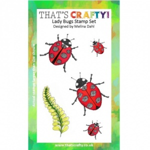 That's Crafty! A6 Clear Stamp Set - Lady Bugs