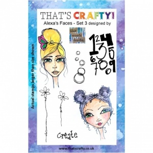 That's Crafty! Clear Stamp Set - Alexa's Faces - Set 3