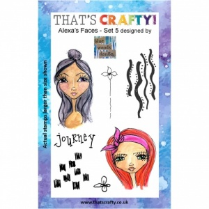 That's Crafty! Clear Stamp Set - Alexa's Faces - Set 5