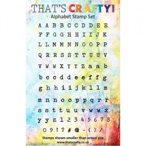 That's Crafty! Clear Stamp Set - Alphabet