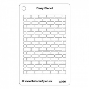 That's Crafty! Dinky Stencil - Brick Background - TC026