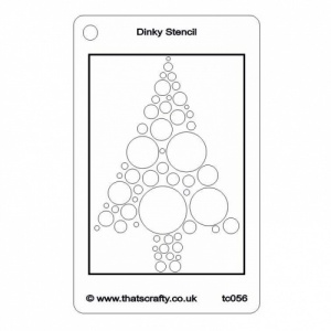 That's Crafty! Dinky Stencil - Bubble Tree - TC056