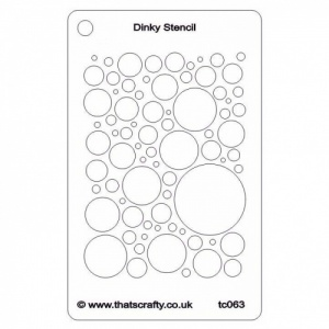 That's Crafty! Dinky Stencil - Bubbly All Over - TC063