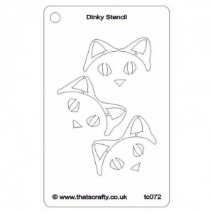 That's Crafty! Dinky Stencil - Cheeky Cat - TC072