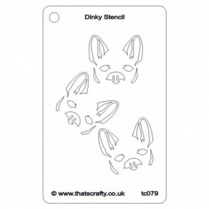 That's Crafty! Dinky Stencil - Cheeky Dog - TC079