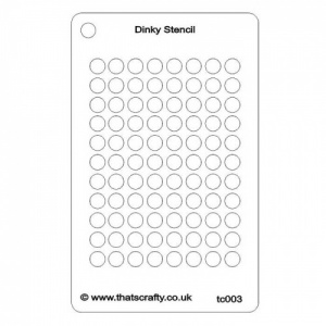 That's Crafty! Dinky Stencil - Circles Background - TC003