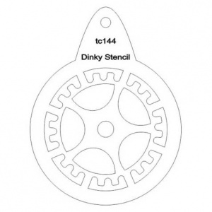That's Crafty! Round Dinky Stencil - Cog - TC144