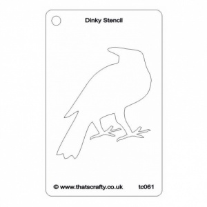 That's Crafty! Dinky Stencil - Crow - TC061