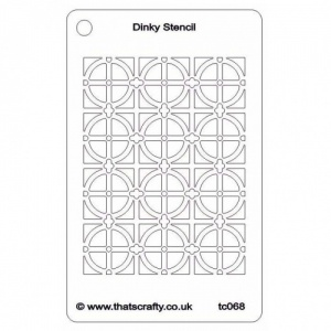 That's Crafty! Dinky Stencil - Decorative Background - TC068