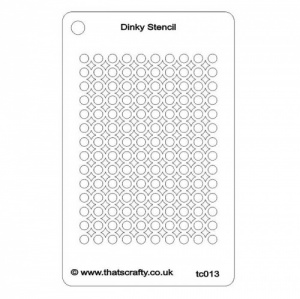 That's Crafty! Dinky Stencil - Diamond Circles Background - TC013