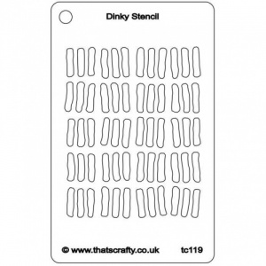 That's Crafty! Dinky Stencil - Dinky Lines - TC119