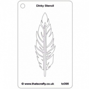 That's Crafty! Dinky Stencil - Feather - TC098