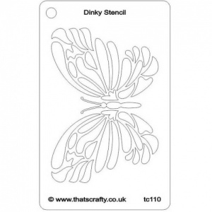 That's Crafty! Dinky Stencil - Flourish Butterfly - TC110