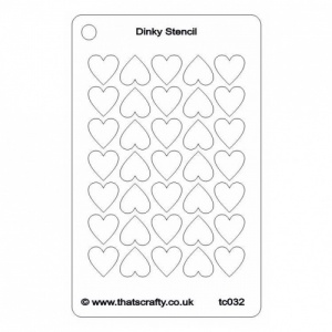 That's Crafty! Dinky Stencil - Hearts Background - TC032