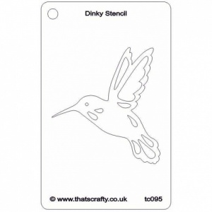 That's Crafty! Dinky Stencil - Hummingbird - TC095