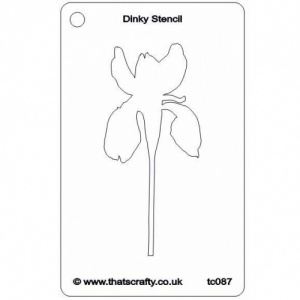 That's Crafty! Dinky Stencil - Iris - TC087