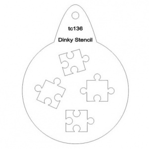 That's Crafty! Round Dinky Stencil - Jigsaw - TC136
