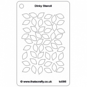 That's Crafty! Dinky Stencil - Leaves - TC086