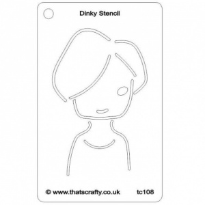 That's Crafty! Dinky Stencil - Maggie - TC108