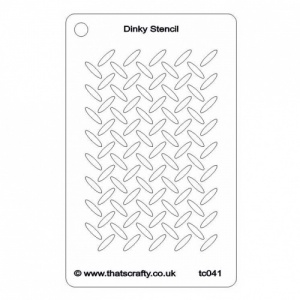 That's Crafty! Dinky Stencil - Metal Grid Background - TC041
