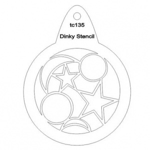That's Crafty! Round Dinky Stencil - Moon and Stars - TC135