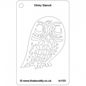 That's Crafty! Dinky Stencil - Owl - TC103